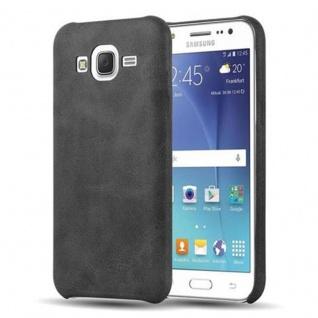 Cadorabo Hülle für Samsung Galaxy J5 2015 (5) - Hülle in VINTAGE SCHWARZ ? Hardcase Handyhülle aus Kunstleder - Schutzhülle Bumper Back Case Cover