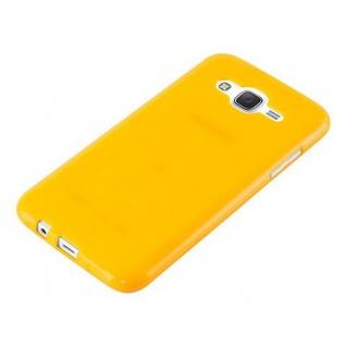 Cadorabo Hülle für Samsung Galaxy J5 2015 in JELLY GELB - Handyhülle aus flexiblem TPU Silikon - Silikonhülle Schutzhülle Ultra Slim Soft Back Cover Case Bumper - Vorschau 4