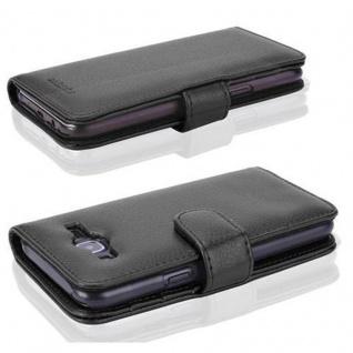 Cadorabo Hülle für Samsung Galaxy J5 2015 in OXID SCHWARZ ? Handyhülle mit Magnetverschluss und 3 Kartenfächern ? Case Cover Schutzhülle Etui Tasche Book Klapp Style - Vorschau 3