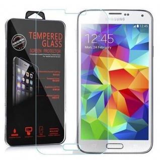 Cadorabo Panzer Folie für Samsung Galaxy S5 / S5 NEO / S5 LTE+ - Schutzfolie in KRISTALL KLAR - Gehärtetes (Tempered) Display-Schutzglas in 9H Härte mit 3D Touch Kompatibilität