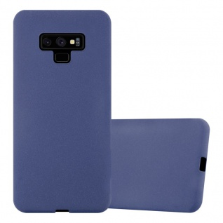 Cadorabo Hülle für Samsung Galaxy NOTE 9 in FROST DUNKEL BLAU Handyhülle aus flexiblem TPU Silikon Silikonhülle Schutzhülle Ultra Slim Soft Back Cover Case Bumper
