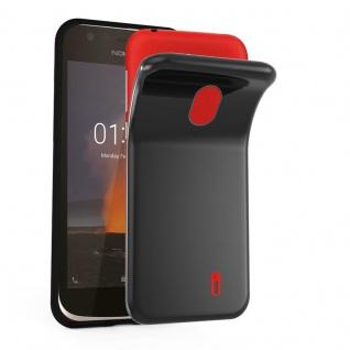 Cadorabo Hülle für Nokia 1 2017 in SCHWARZ - Handyhülle aus flexiblem TPU Silikon - Silikonhülle Schutzhülle Ultra Slim Soft Back Cover Case Bumper