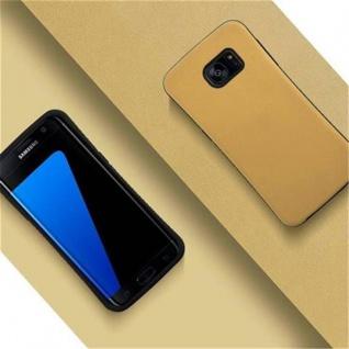 Cadorabo Hülle für Samsung Galaxy S7 EDGE - Hülle in GOLD BRAUN - Small Waist Handyhülle mit rutschfestem Gummi-Rücken - Hard Case TPU Silikon Schutzhülle - Vorschau 2