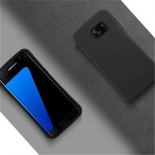 Cadorabo Hülle für Samsung Galaxy S7 EDGE - Hülle in MINERAL SCHWARZ ? Small Waist Handyhülle mit rutschfestem Gummi-Rücken - Hard Case TPU Silikon Schutzhülle - Vorschau 2