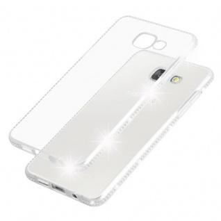 Cadorabo Hülle für Samsung Galaxy A5 2016 (6) - Hülle in TRANSPARENT WEIß - Handyhülle aus TPU Silikon im Strass Design - Silikonhülle Schutzhülle Ultra Slim Soft Back Cover Case Bumper - Vorschau 5
