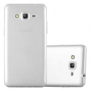 Cadorabo Hülle für Samsung Galaxy GRAND PRIME in METALL SILBER Hardcase Handyhülle aus Plastik gegen Kratzer und Stöße Schutzhülle Bumper Ultra Slim Back Case Hard Cover