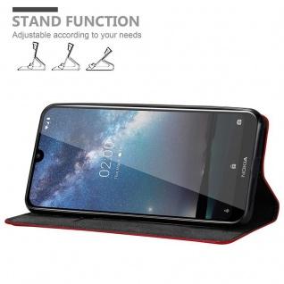 Cadorabo Hülle für Nokia 2.2 in APFEL ROT - Handyhülle mit Magnetverschluss, Standfunktion und Kartenfach - Case Cover Schutzhülle Etui Tasche Book Klapp Style - Vorschau 2