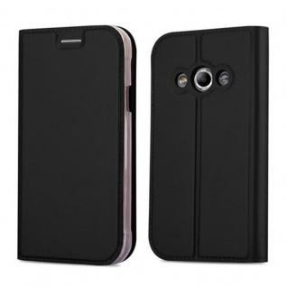 Cadorabo Hülle für Samsung Galaxy XCOVER 3 in CLASSY SCHWARZ - Handyhülle mit Magnetverschluss, Standfunktion und Kartenfach - Case Cover Schutzhülle Etui Tasche Book Klapp Style