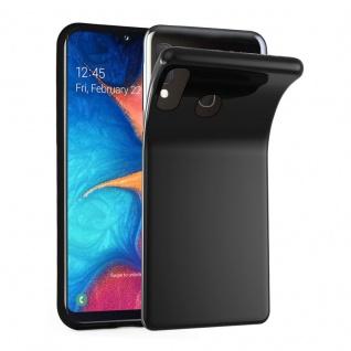 Cadorabo Hülle für Samsung Galaxy A20e in SCHWARZ - Handyhülle aus flexiblem TPU Silikon - Silikonhülle Schutzhülle Ultra Slim Soft Back Cover Case Bumper