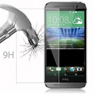 Cadorabo Panzer Folie für HTC ONE M8 (2.Gen.) - Schutzfolie in KRISTALL KLAR - Gehärtetes (Tempered) Display-Schutzglas in 9H Härte mit 3D Touch Kompatibilität - Vorschau 3