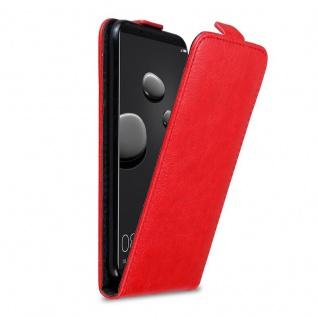 Cadorabo Hülle für Huawei MATE 10 PRO in APFEL ROT Handyhülle im Flip Design mit Magnetverschluss Case Cover Schutzhülle Etui Tasche Book Klapp Style
