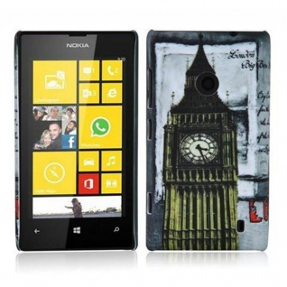 Cadorabo - Hard Cover für Nokia Lumia 520 - Case Cover Schutzhülle Bumper im Design: LONDON - BIG BEN