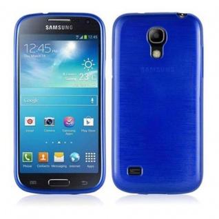 Cadorabo Hülle für Samsung Galaxy S4 MINI in BLAU - Handyhülle aus flexiblem TPU Silikon - Silikonhülle Schutzhülle Ultra Slim Soft Back Cover Case Bumper