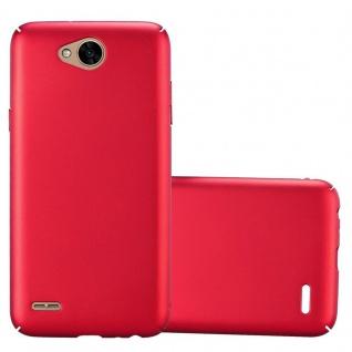 Cadorabo Hülle für LG X Power 2 in METALL ROT - Hardcase Handyhülle aus Plastik gegen Kratzer und Stöße - Schutzhülle Bumper Ultra Slim Back Case Hard Cover