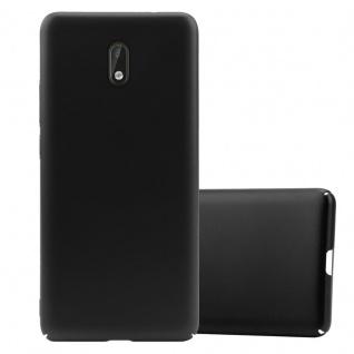 Cadorabo Hülle für Nokia 3 2017 in METALL SCHWARZ Hardcase Handyhülle aus Plastik gegen Kratzer und Stöße Schutzhülle Bumper Ultra Slim Back Case Hard Cover