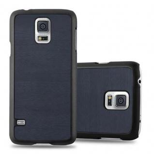 Cadorabo Hülle für Samsung Galaxy S5 MINI / S5 MINI DUOS in WOODY BLAU - Hardcase Handyhülle aus Plastik gegen Kratzer und Stöße - Schutzhülle Bumper Ultra Slim Back Case Hard Cover