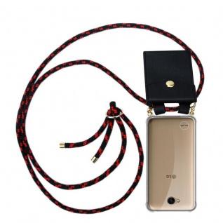 Cadorabo Handy Kette für LG X Power 2 in SCHWARZ ROT - Silikon Necklace Umhänge Hülle mit Gold Ringen, Kordel Band Schnur und abnehmbarem Etui ? Schutzhülle
