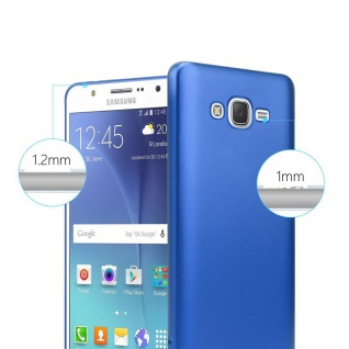 Cadorabo Hülle für Samsung Galaxy J7 2015 in METALLIC BLAU - Handyhülle aus flexiblem TPU Silikon - Silikonhülle Schutzhülle Ultra Slim Soft Back Cover Case Bumper - Vorschau 4