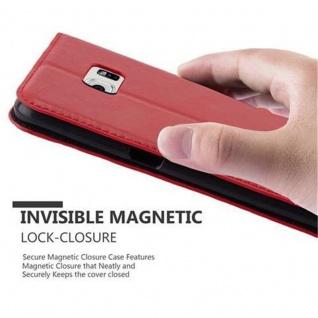 Cadorabo Hülle für Samsung Galaxy S6 EDGE PLUS in APFEL ROT - Handyhülle mit Magnetverschluss, Standfunktion und Kartenfach - Case Cover Schutzhülle Etui Tasche Book Klapp Style - Vorschau 4