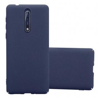 Cadorabo Hülle für Nokia 8 2017 in FROSTY BLAU - Hardcase Handyhülle aus Plastik gegen Kratzer und Stöße - Schutzhülle Bumper Ultra Slim Back Case Hard Cover
