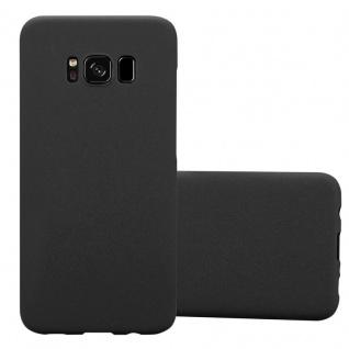 Cadorabo Hülle für Samsung Galaxy S8 in FROSTY SCHWARZ - Hardcase Handyhülle aus Plastik gegen Kratzer und Stöße - Schutzhülle Bumper Ultra Slim Back Case Hard Cover