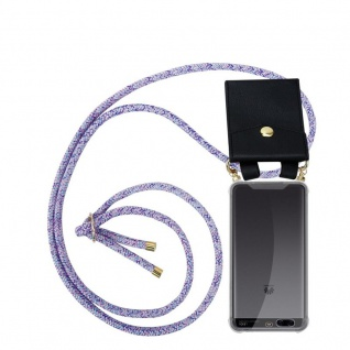 Cadorabo Handy Kette für Huawei P10 PLUS in UNICORN Silikon Necklace Umhänge Hülle mit Gold Ringen, Kordel Band Schnur und abnehmbarem Etui Schutzhülle