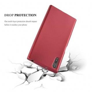 Cadorabo Hülle für Sony Xperia XZ / XZs in METALLIC ROT - Handyhülle aus flexiblem TPU Silikon - Silikonhülle Schutzhülle Ultra Slim Soft Back Cover Case Bumper - Vorschau 4