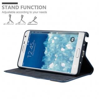 Cadorabo Hülle für Samsung Galaxy NOTE EDGE in DUNKEL BLAU BRAUN ? Handyhülle mit Magnetverschluss, Standfunktion und Kartenfach ? Case Cover Schutzhülle Etui Tasche Book Klapp Style - Vorschau 2
