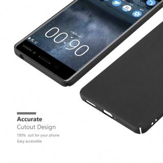 Cadorabo Hülle für Nokia 6 2017 in FROSTY SCHWARZ - Hardcase Handyhülle aus Plastik gegen Kratzer und Stöße - Schutzhülle Bumper Ultra Slim Back Case Hard Cover - Vorschau 5