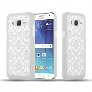 Samsung Galaxy J5 2015 Hardcase Hülle in WEIß von Cadorabo - Blumen Paisley Henna Design Schutzhülle ? Handyhülle Bumper Back Case Cover