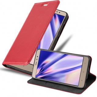 Cadorabo Hülle für Xiaomi RedMi Note 3 in APFEL ROT - Handyhülle mit Magnetverschluss, Standfunktion und Kartenfach - Case Cover Schutzhülle Etui Tasche Book Klapp Style