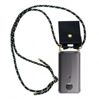 Cadorabo Handy Kette für Motorola MOTO G5S PLUS in CAMOUFLAGE Silikon Necklace Umhänge Hülle mit Gold Ringen, Kordel Band Schnur und abnehmbarem Etui Schutzhülle