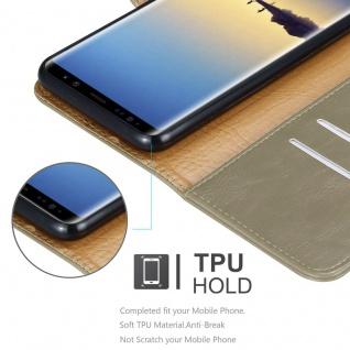 Cadorabo Hülle für Samsung Galaxy NOTE 8 in CAPPUCCINO BRAUN ? Handyhülle mit Magnetverschluss, Standfunktion und Kartenfach ? Case Cover Schutzhülle Etui Tasche Book Klapp Style - Vorschau 3