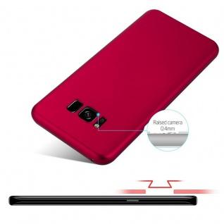Cadorabo Hülle für Samsung Galaxy S8 PLUS in METALL ROT - Hardcase Handyhülle aus Plastik gegen Kratzer und Stöße - Schutzhülle Bumper Ultra Slim Back Case Hard Cover - Vorschau 4