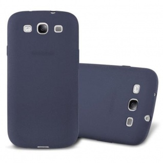 Cadorabo Hülle für Samsung Galaxy S3 in FROST DUNKEL BLAU Handyhülle aus flexiblem TPU Silikon Silikonhülle Schutzhülle Ultra Slim Soft Back Cover Case Bumper