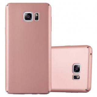 Cadorabo Hülle für Samsung Galaxy NOTE 5 - Hülle in METALL ROSE GOLD ? Hardcase Handyhülle im Matt Metal Design - Schutzhülle Bumper Back Case Cover