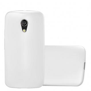 Cadorabo Hülle für Motorola MOTO G2 in METALLIC SILBER - Handyhülle aus flexiblem TPU Silikon - Silikonhülle Schutzhülle Ultra Slim Soft Back Cover Case Bumper