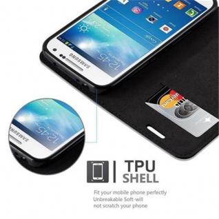 Cadorabo Hülle für Samsung Galaxy S4 MINI in NACHT SCHWARZ - Handyhülle mit Magnetverschluss, Standfunktion und Kartenfach - Case Cover Schutzhülle Etui Tasche Book Klapp Style - Vorschau 4
