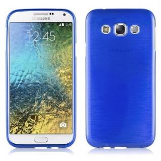Cadorabo Hülle für Samsung Galaxy E5 2015 in BLAU - Handyhülle aus flexiblem TPU Silikon - Silikonhülle Schutzhülle Ultra Slim Soft Back Cover Case Bumper