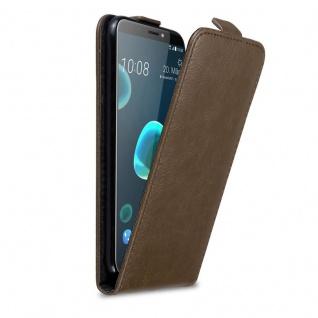 Cadorabo Hülle für HTC Desire 12 PLUS in KAFFEE BRAUN - Handyhülle im Flip Design mit Magnetverschluss - Case Cover Schutzhülle Etui Tasche Book Klapp Style