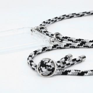 Cadorabo Handy Kette für Honor 30 in SCHWARZ CAMOUFLAGE Silikon Necklace Umhänge Hülle mit Silber Ringen, Kordel Band Schnur und abnehmbarem Etui Schutzhülle - Vorschau 2