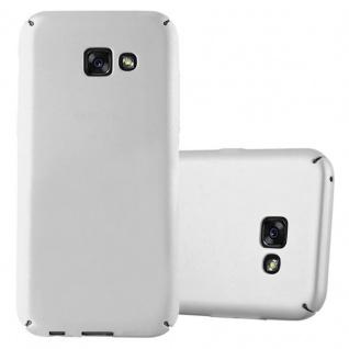 Cadorabo Hülle für Samsung Galaxy A5 2017 in METALL SILBER Hardcase Handyhülle aus Plastik gegen Kratzer und Stöße Schutzhülle Bumper Ultra Slim Back Case Hard Cover