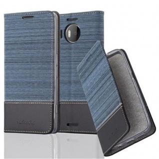 Cadorabo Hülle für Nokia Lumia 950 XL in DUNKEL BLAU SCHWARZ - Handyhülle mit Magnetverschluss, Standfunktion und Kartenfach - Case Cover Schutzhülle Etui Tasche Book Klapp Style