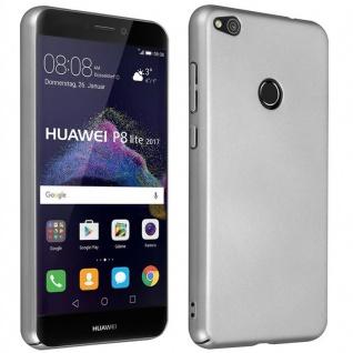 Cadorabo Hülle für Huawei P8 LITE 2017 in METALL SILBER ? Hardcase Handyhülle aus Plastik gegen Kratzer und Stöße ? Schutzhülle Bumper Ultra Slim Back Case Hard Cover - Vorschau 1