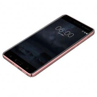 Cadorabo Hülle für Nokia 6 2017 in METALL ROSÉ GOLD - Hardcase Handyhülle aus Plastik gegen Kratzer und Stöße - Schutzhülle Bumper Ultra Slim Back Case Hard Cover - Vorschau 3