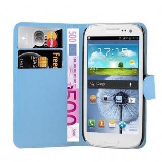 Cadorabo Hülle für Samsung Galaxy S3 MINI in PASTEL BLAU - Handyhülle mit Magnetverschluss, Standfunktion und Kartenfach - Case Cover Schutzhülle Etui Tasche Book Klapp Style