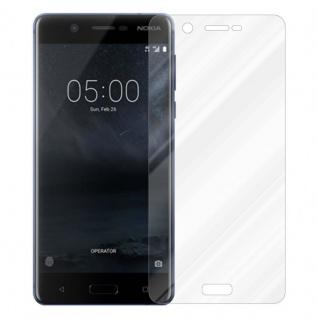 Cadorabo Panzer Folie für Nokia 5.1 2018 - Schutzfolie in KRISTALL KLAR - Gehärtetes (Tempered) Display-Schutzglas in 9H Härte mit 3D Touch Kompatibilität - Vorschau 2