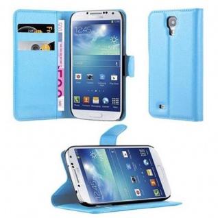 Cadorabo Hülle für Samsung Galaxy S4 in PASTEL BLAU Handyhülle mit Magnetverschluss, Standfunktion und Kartenfach Case Cover Schutzhülle Etui Tasche Book Klapp Style