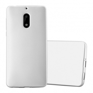 Cadorabo Hülle für Nokia 6 2017 in METALLIC SILBER - Handyhülle aus flexiblem TPU Silikon - Silikonhülle Schutzhülle Ultra Slim Soft Back Cover Case Bumper - Vorschau 1