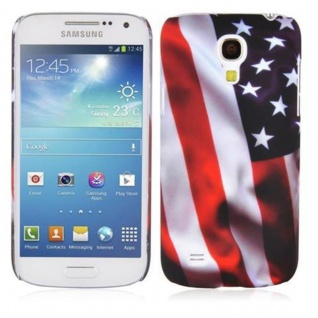 Cadorabo - Hard Cover für Samsung Galaxy S4 MINI - Case Cover Schutzhülle Bumper im Design: STARS AND STRIPES